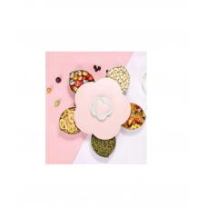 Менажница раздвижная цветок розовый