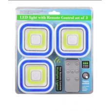 LED Светильник с пультом и регулировкой яркости (3 шт)