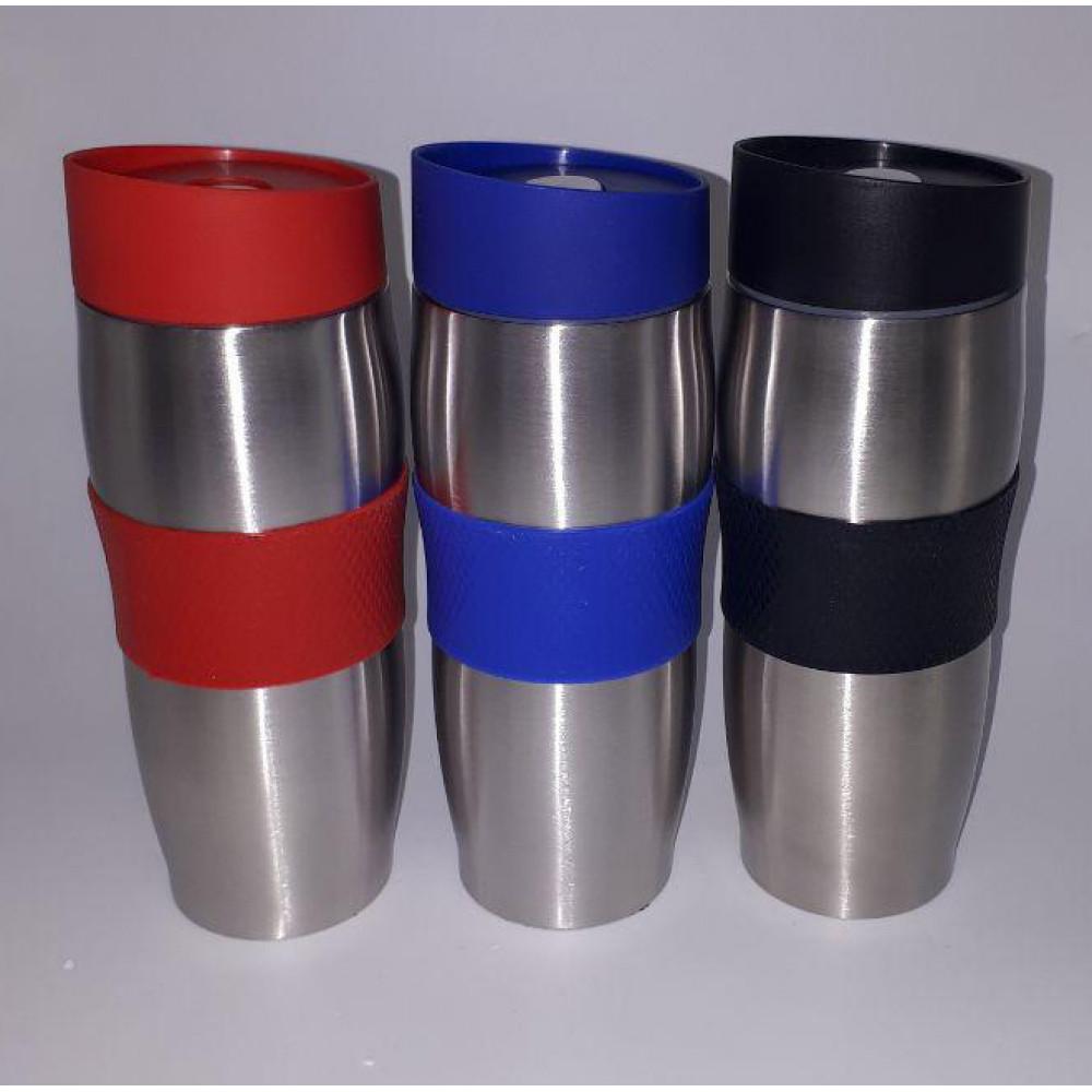 Термо-кружка с резиновым держателем (350 мл)