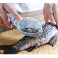 Рыбочистка-скребок с крышкой