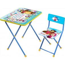 Комплект детской мебели «Маша и медведь» (арт. КП2 с азбукой №2)