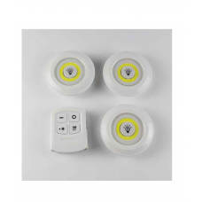 LED Светильник с пультом и регулировкой яркости (3 шт) 1012