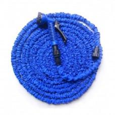 Шланг поливочный растягивающийся синий 60 м