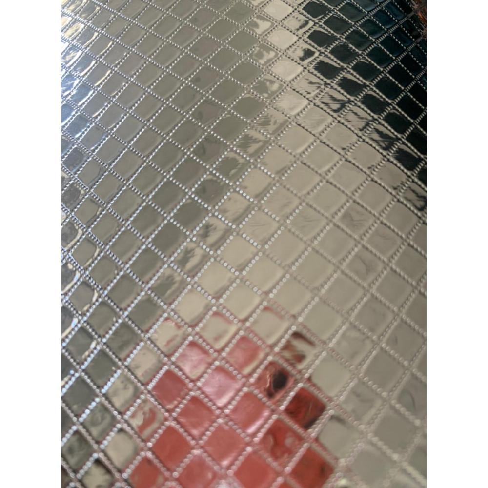 """Фольгированная пленка универсальная рулон 6 метров цвет - """"Серебряный ромб"""" маленький"""