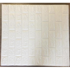 Блок интерьерного покрытия цвет 3D - E00 – Белый (1 шт)