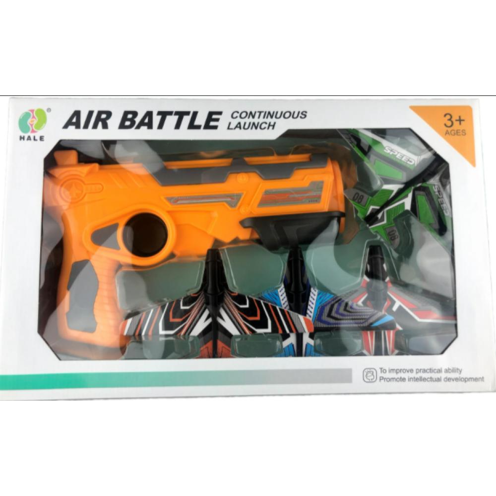 Пистолет-катапульта с 4 самолётами-патронами Air Battle