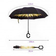 Умный зонт с обратным открыванием Подсолнух