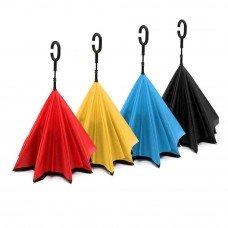 Зонт с обратным открыванием однотонные разноцветные